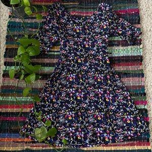 Bongo Black Floral Open Back Dress
